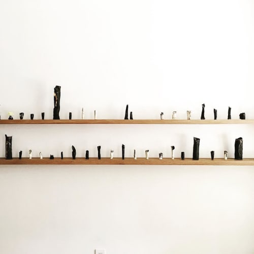 Sculptures by A Space seen at Floating Mountain Tea House |2nd Floor|, New York - Ceramic Art