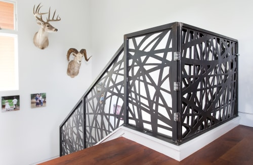 Hardware by Brian Chilton Design at Client Residence - Austin, Texas, Austin - Custom Steel Staircase Rail