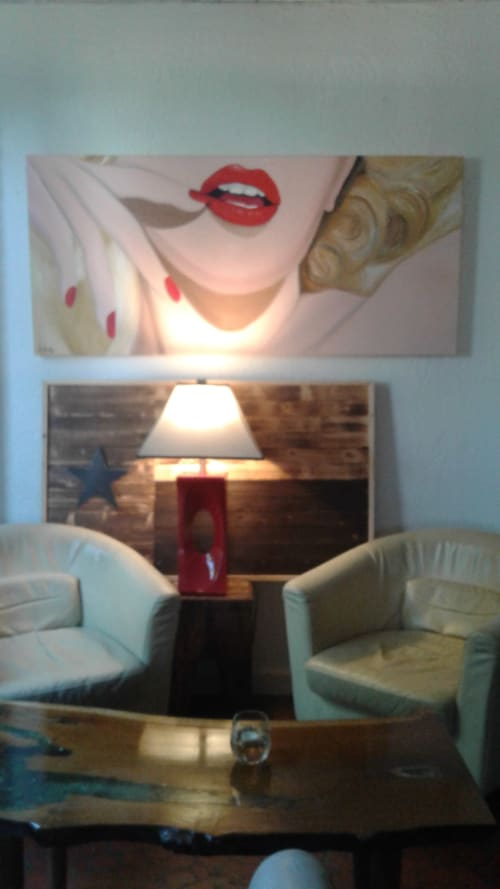 Paintings by Cheryl Hicks seen at Villa Montez, Tyler - Big Red