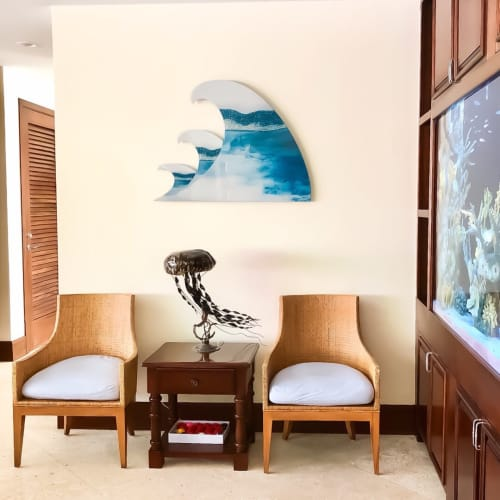 Sculptures by Emily M Randolph Fine Art seen at Private Residence, Belize City - Breaking Waves