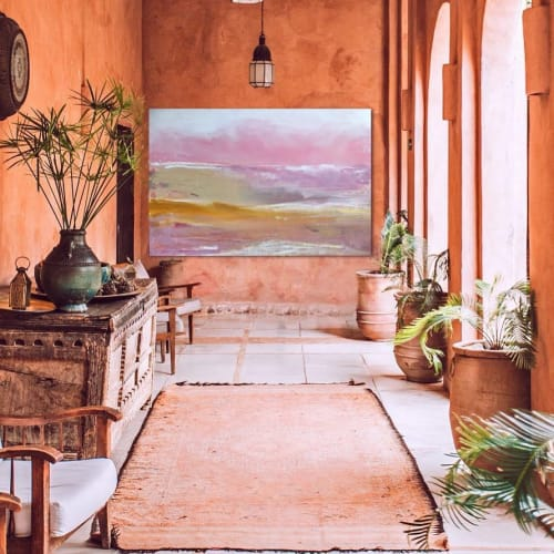 Paintings by Kathleen Rhee seen at Private Residence, Maudsland - Soft Pink Views