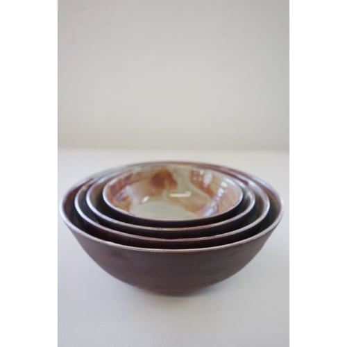 Ceramic Plates by Jessie Lazar, LLC seen at Private Residence, New York - Nesting Bowl Set
