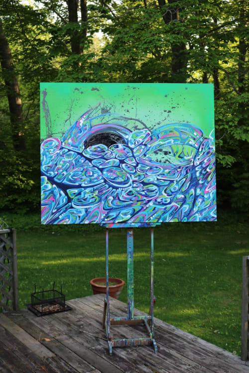 Paintings by Mathew Vizbulis seen at Private Residence, Golden - Acrylic Painting