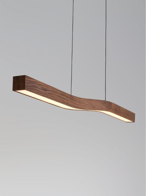 Pendants by Cerno seen at Pardee Homes, Pasadena - Camur Linear Pendant