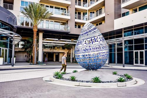 Public Sculptures by Creative Machines seen at Elements Way, Irvine - Elements