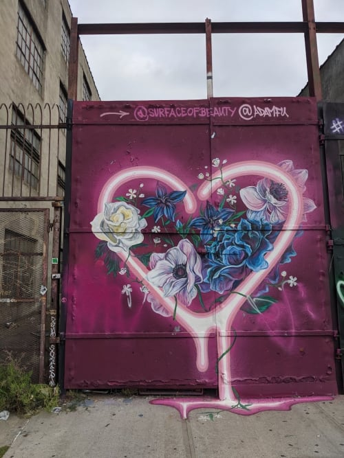 Street Murals by surface of beauty seen at 8 Wyckoff Ave, Brooklyn - Valentine