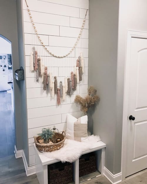 Wall Hangings by Katie Starks seen at Chelsie Morales' Home - OG Yarn Garland