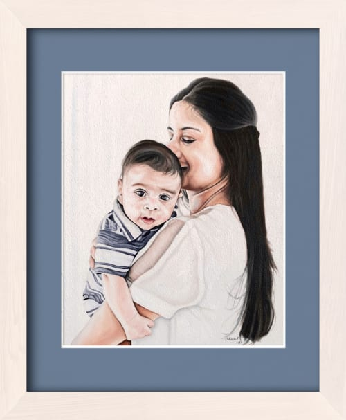 Paintings by Melissa Patel seen at Private Residence, Burlington - Mother & Child