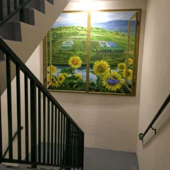 Murals by Murals by Georgeta (Fondos) seen at Garden of Life, Palm Beach Gardens - Garden of Life staircase wall mural on canvas