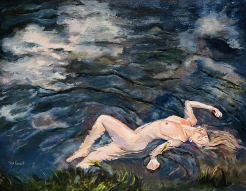 Paintings by Piya Samant seen at Creator's Studio, Boston - Painting