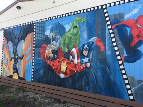Murals by Renata - Artistic Murals seen at Seymour, Seymour - Superheroes