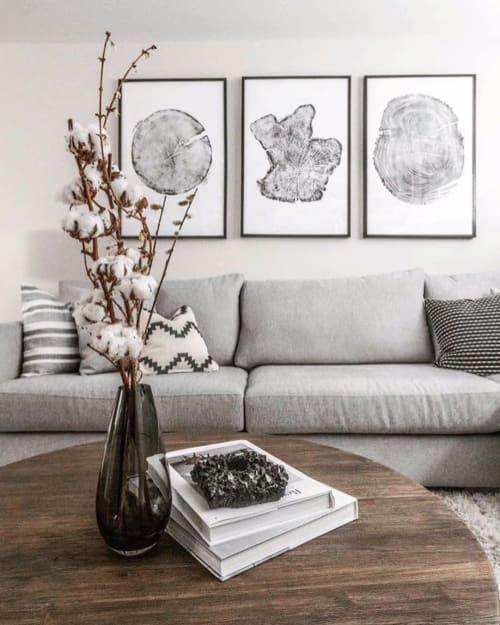 Set of 3 Large Tree Ring Prints | Art & Wall Decor by Erik Linton