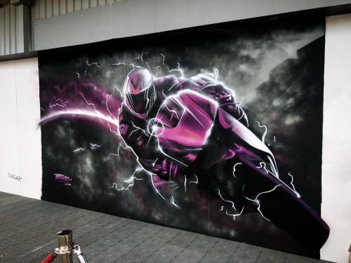 Murals by Heesco seen at Phillip Island Grand Prix Circuit, Ventnor - Mural