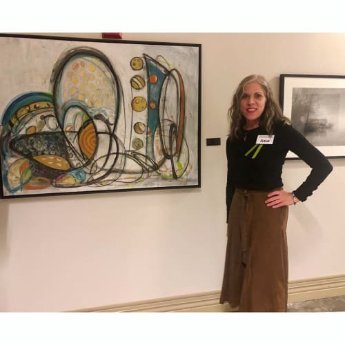 Paintings by Rose M Barron at Fulton County Arts and Culture, Atlanta - Abstract Painting