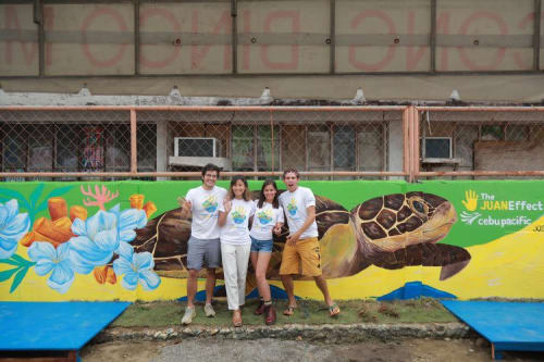 Murals by Anina Rubio seen at Dapa National High School, Dapa - The Juan Effect Mural