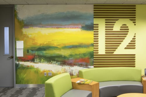 Murals by Studio Art Direct seen at Kaiser Permanente Building, Portland - Corporate Building Artwork
