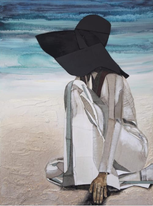 Paintings by Kelsey Irvin at Private Residence, New York - Revisiting Azure Tide