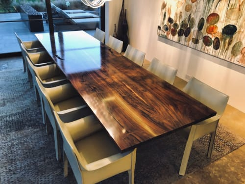 Tables by Steve Tiller seen at Private Residence, Palm Springs - California Black Walnut Dining Table