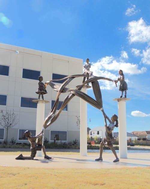 Public Sculptures by Angela Mia De la Vega Studios, Inc. seen at Stonebrook Business Park, Frisco - Star Strength