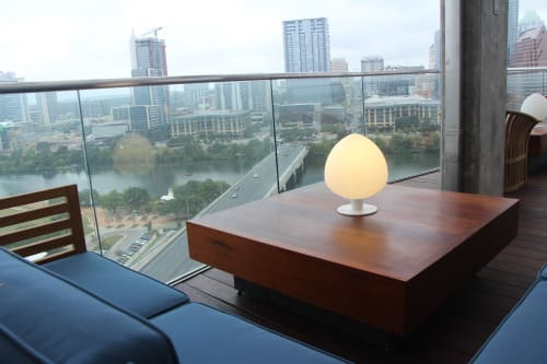 Tables by Mockingbird Made seen at The Catherine, Austin - Spanish Cedar Lounge Tables