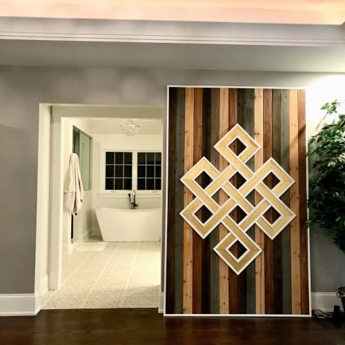 Art & Wall Decor by Sweet Home Wiscago seen at Private Residence, Glenview IL, Glenview - Celtic Knot Barn Door