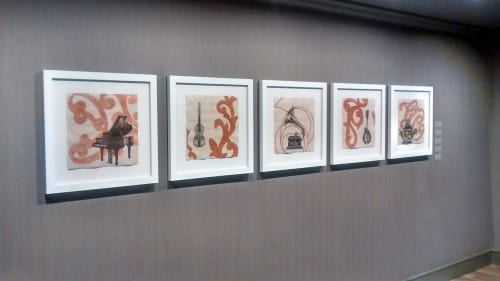 Paintings by Paul Flippen at The Elizabeth Hotel, Autograph Collection, Fort Collins - Mandolin