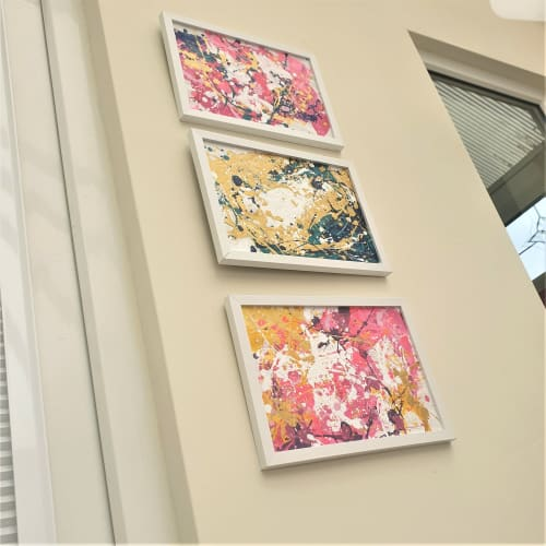 Paintings by Asra Samad seen at Private Residence, Manchester - Gold tripping