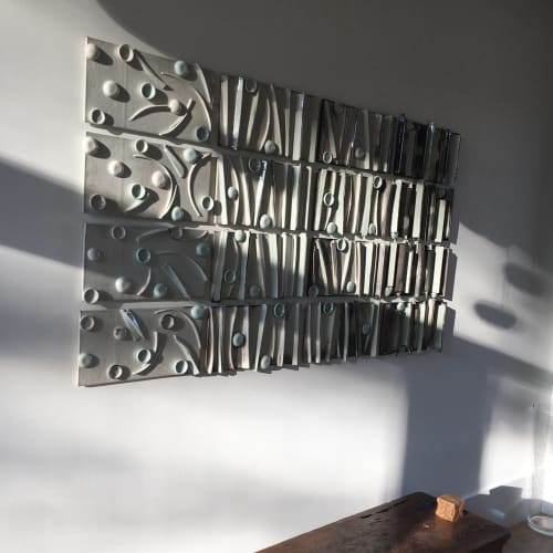 Sculptures by Len Carella seen at Private Residence, Sonoma - 16-pieces Ceramic Installation