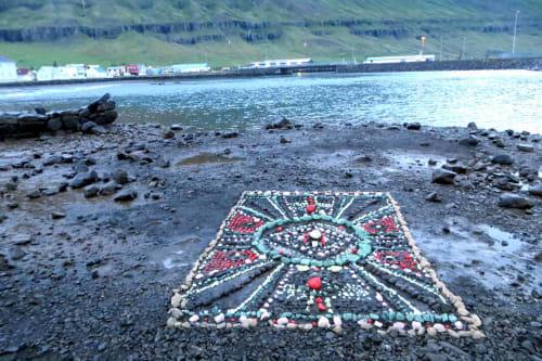 Public Art by Thordis Erla Zoega seen at Seydisfjordur, Seydisfjordur - Shore carpet