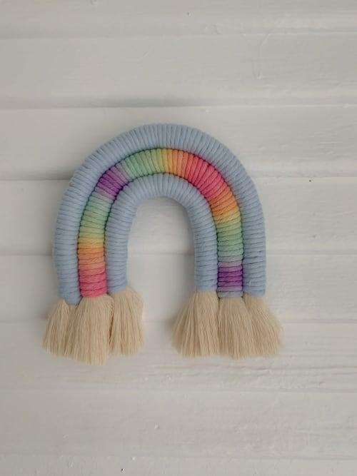 Pastel Macrame Rainbow | Macrame Wall Hanging by Demi Macrame & Designs