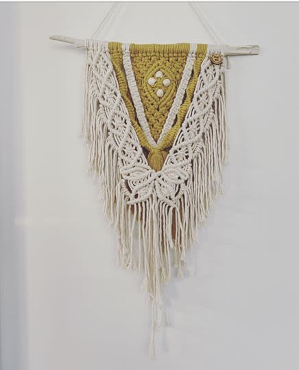 Macrame Wall Hanging by Hawks Nest Macrame seen at Private residence, Tauranga - Love Lottie