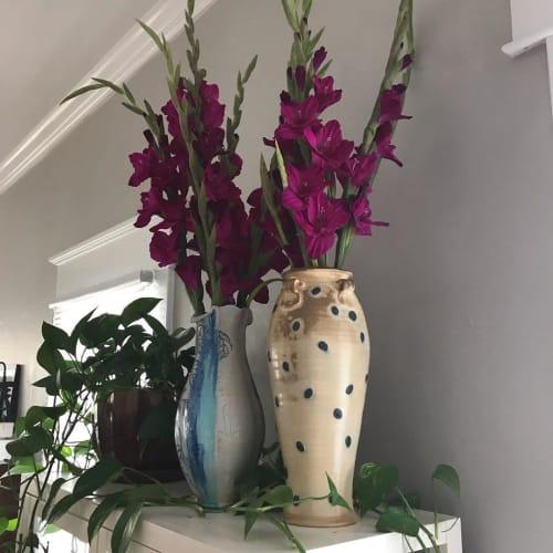 Vases & Vessels by Dan Finnegan seen at Private Residence, Lakeland - Ceramic Dotted Vase