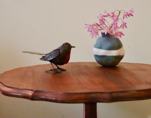 Tableware by Joanne Linsdell seen at Melbourne, Melbourne - Blue denim vase