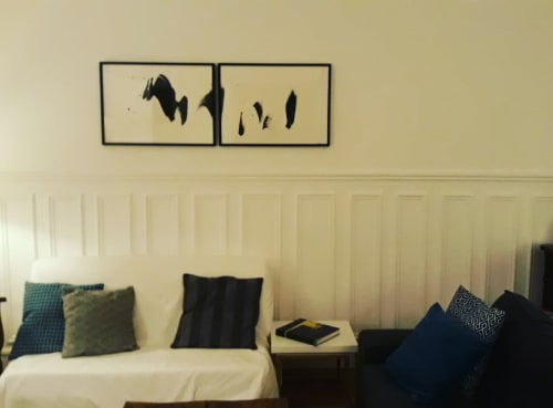 Paintings by Anaïs Cacot Froissart seen at Private Residence, Paris - Series: Puisque tu pars/Vianney, painting N°4