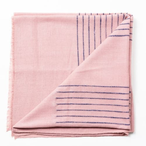 Rosewood Handloom Throw | Linens & Bedding by Studio Variously