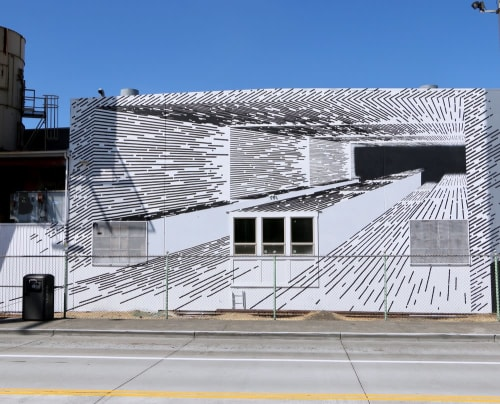 Murals by Katy Ann Gilmore seen at The SODO Track, Seattle - From Here to There, 2017