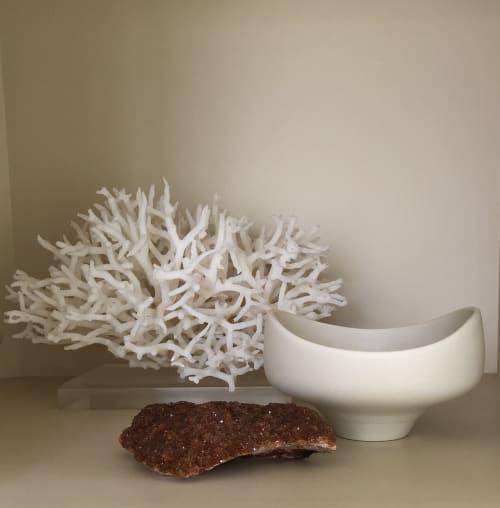 Art & Wall Decor by Lisa Fleming Ceramics seen at San Francisco, CA, San Francisco - Crystalline White Matte bowl with altered rim
