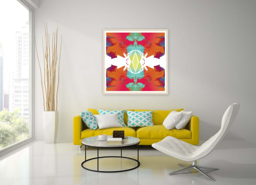 Art & Wall Decor by Stephanie Mill seen at Private Residence, London - Digital Orchid 2