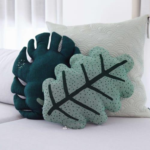 Pillows by Studio NAMA seen at Tel Aviv-Yafo, Tel Aviv-Yafo - Monstera&Oak leaf Pillows