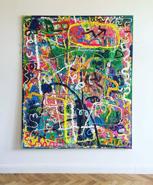Paintings by Boris Fauser seen at Private Residence, Berlin - Untitled, 2019