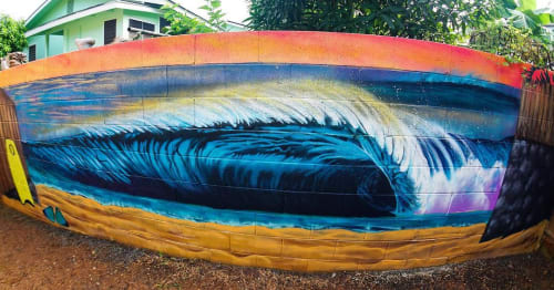 Murals by Luke DeKneef seen at Private Residence, Kahuku - Off The Wall