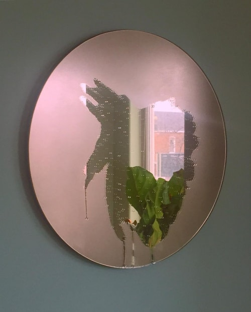 Wall Hangings by Jeffrey Michael Austin seen at Private Residence, Chicago - Rose Gold Tinted Mirror