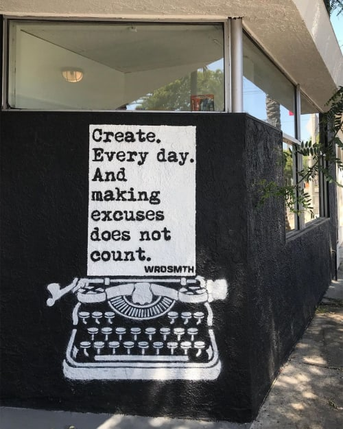 Street Murals by WRDSMTH seen at North Highland Avenue, Los Angeles - Do What You Love