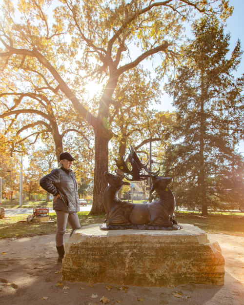 Public Sculptures by Larassa Kabel seen at Des Moines, Des Moines - Black Crown of Recurring Loss