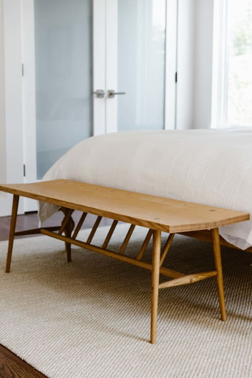 Benches & Ottomans by Lundy seen at Private Residence, Boulder - Greenpoint Bench - Solid White Oak