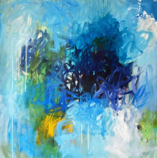 Paintings by Abby Creek Studios - Paintings by Linda O'Neill seen at Tarrytown, Tarrytown - Five abstract paintings on canvas