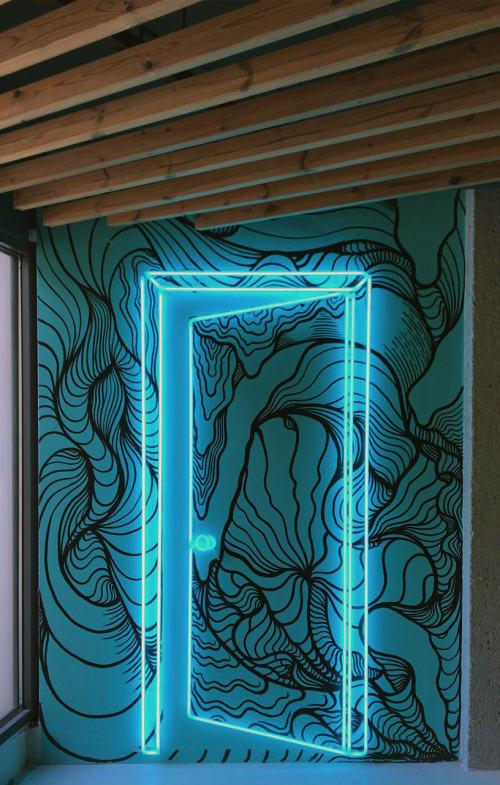 Murals by Joan Tarragó seen at Hotel Rec Barcelona - Adults only, Barcelona - Hotel REC Mural Project