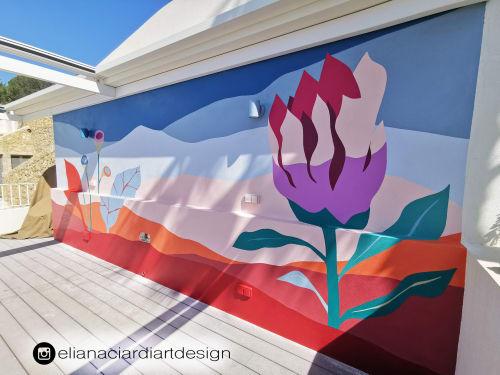 "Murals by Eliana Ciardi Art Design seen at Majorca - ""ART OUT OF FRAME"""