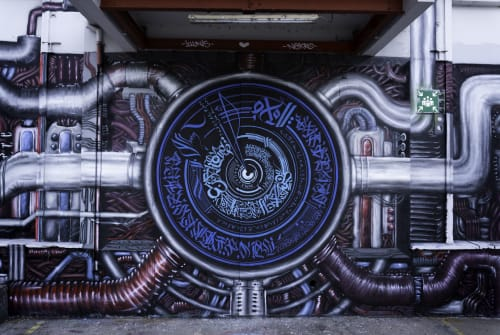 Street Murals by Illunis seen at Dragonerstraße 22, Wels - Together Jam