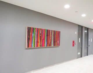 Paintings by Raül de la Torre seen at Morgan Stanley Global Headquarters, New York - POEMES
